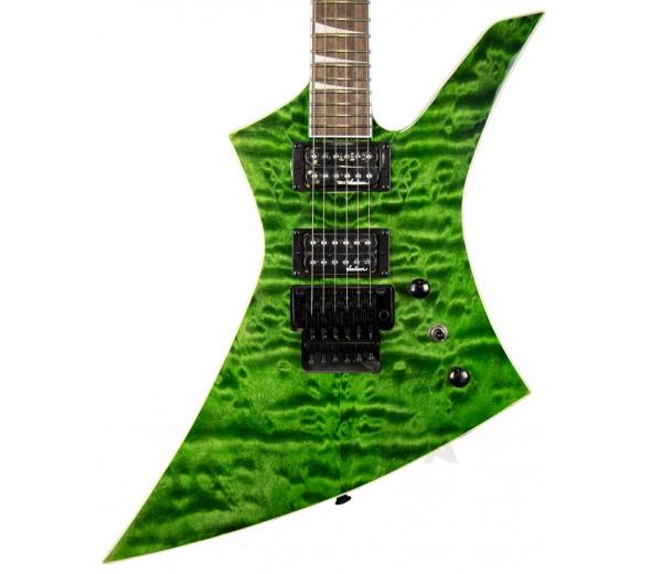 Guitarra Elétrica/Guitarras design alternativo Jackson X Series KEXQ IL Transparent Green