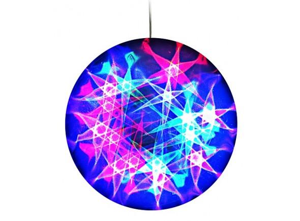Bola de espelhos/Bola de Espelhos Karma Bola de Efeitos 3D Estrelas 30cm