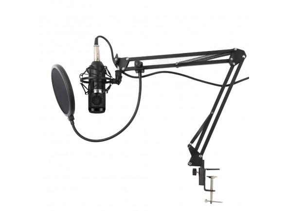 Microfone de membrana grande Karma  Microfone Estúdio c/ Suporte KM-CMC20