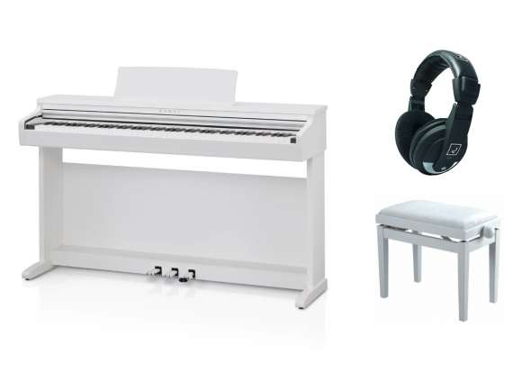 Pianos Digitais de Móvel Kawai KDP 110 Satin White Pack