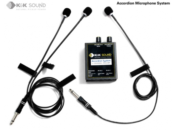 Acordeão K&K Sound Accordion Microphone System