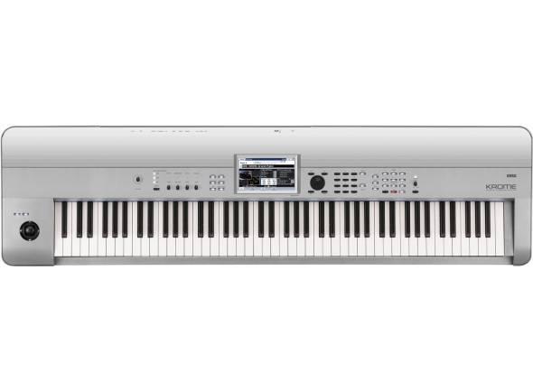 Korg Krome 88 Platinum  Sintetizador Korg Krome 88 Platinum. 88 Teclas. Controladores: 1x Controlador de Pitch e de Modulação. Pads: Motor de sons EDS-X (Enhanced Definition Synthesis-eXpanded);