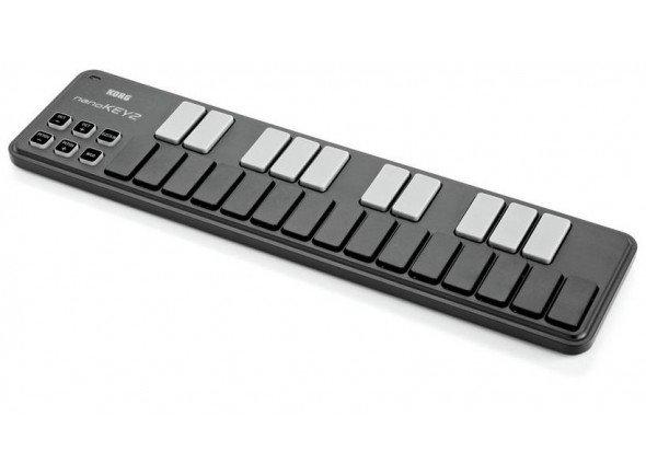 Teclados MIDI Controladores Korg nanoKEY 2 black   25 Teclas  Super portátil   1x Botão de Octavas (-4 para +4)