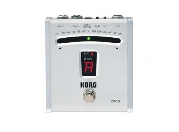 Afinadores de pedal Korg  Pedal Afinador Guitarra  DT10 Cinza