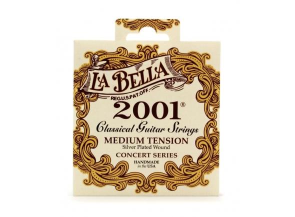 Jogos de cordas para guitarra clássica La Bella 2001 Medium Tension