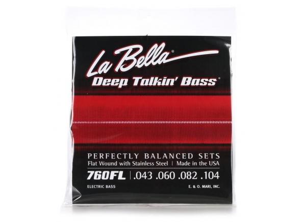Jogos de cordas para baixo elétrico La Bella 760FL Deep Talkin Bass