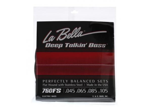 Jogos de cordas para baixo elétrico La Bella 760FS Deep Talkin Bass
