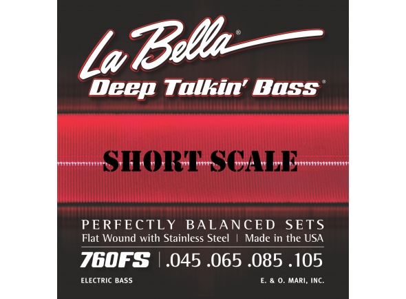 Conjunto de Cordas para Baixo Elétrico/Jogo de cordas .045 para baixo elétrico de 4 cordas La Bella 760FS-S