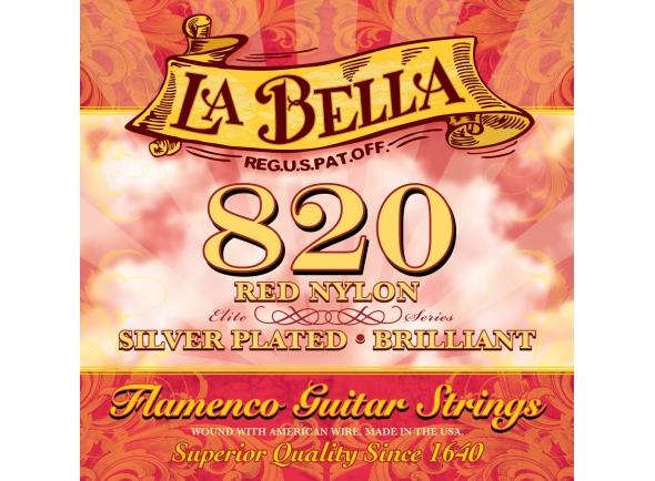 Jogos de cordas para guitarra clássica La Bella 820 Flamenco Strings Set