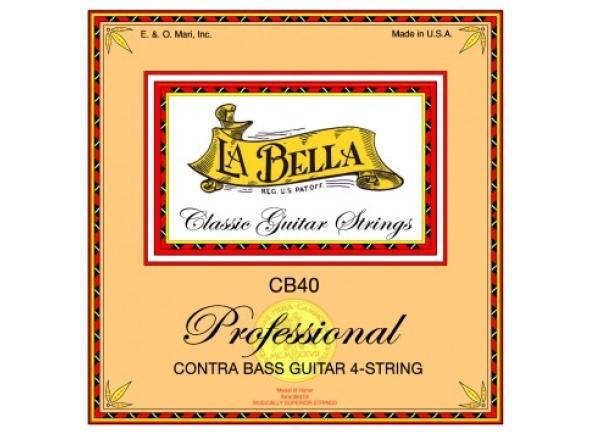 Jogos de cordas para baixo elétrico La Bella Jogo Cordas CB40