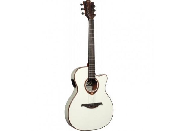 Guitarra Acústica LAG  Auditorium Tramontane 118 A/E Slim Cutaway - Ivory White