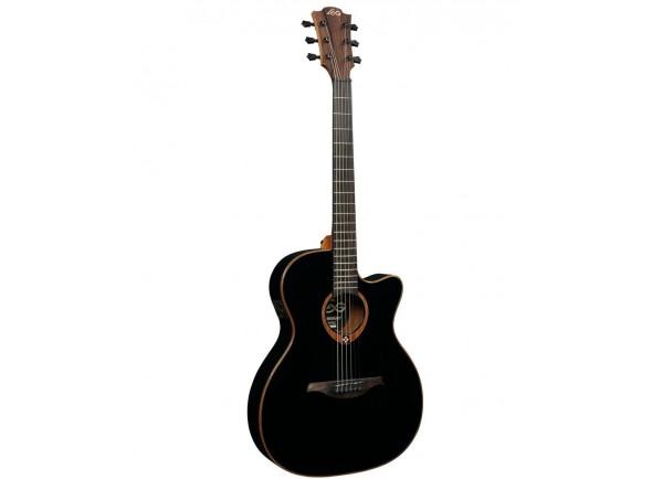 Guitarra Acústica LAG  Auditorium Tramontane  118 A/E Slim Cutaway - Negra