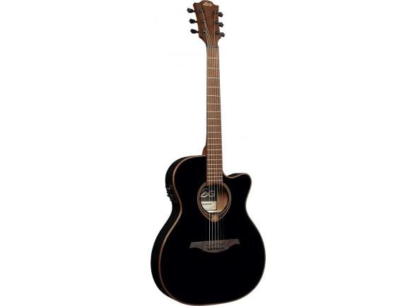 Guitarra Acústica LAG  T118-ACE-BLK Auditorium Cutaway Black