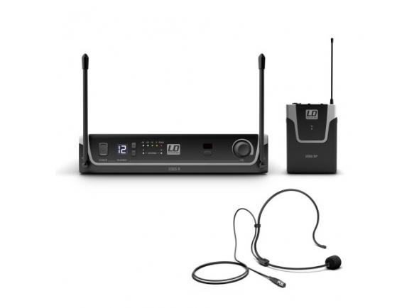 Sistema sem fio com microfone de cabeça LD Systems U305 BPH