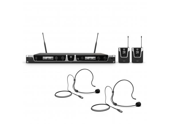 Sistema sem fio com microfone de cabeça LD Systems U505 BPH 2