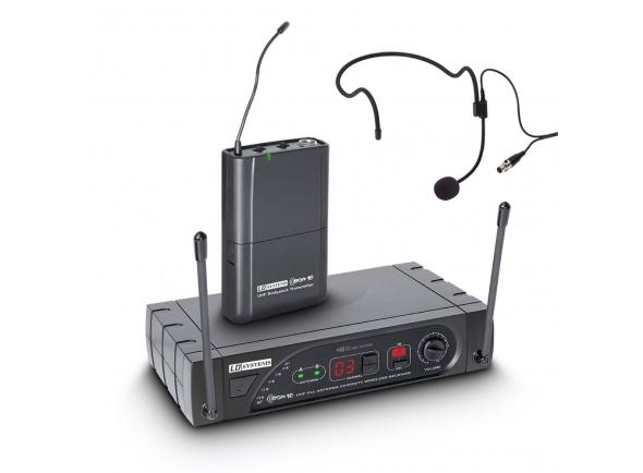 Sistema sem fio com microfone de cabeça LD Systems WS ECO 16 BPH