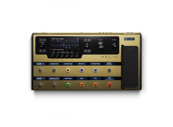 Pedaleiras para guitarra elétrica Line6 Helix Gold Guitar Processor