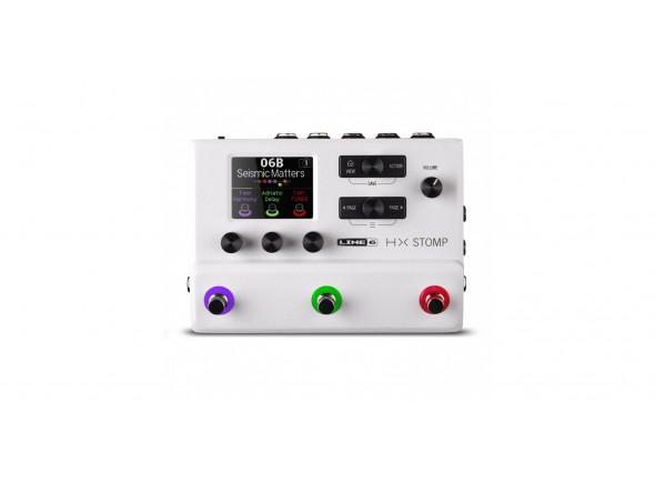 Pedaleira para guitarra elétrica/Pedaleiras para guitarra elétrica Line6 HX Stomp White Limited Edition