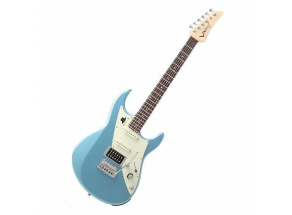 Outros Modelos/Guitarras formato ST Line6 JTV-69 Lake Placid Blue