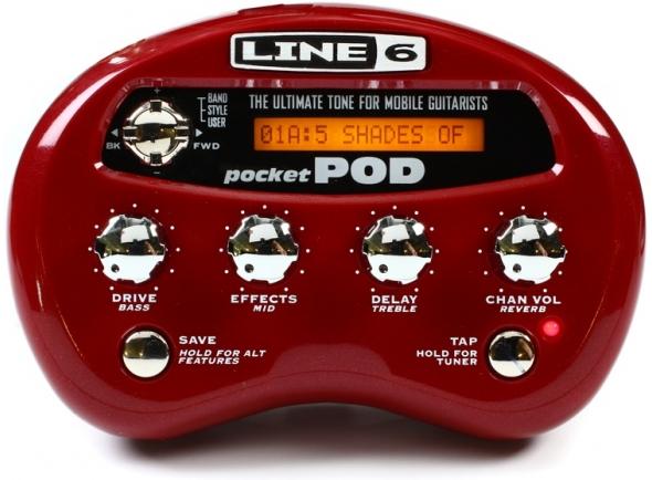 Pedaleiras para guitarra elétrica Line6 Pocket Pod B-Stock