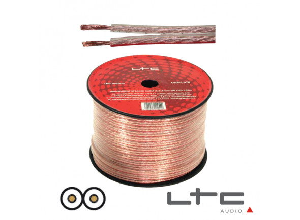 Cabos de coluna LTC Audio 2x2.50mm Transparente 100m Ltc Hi-Fi