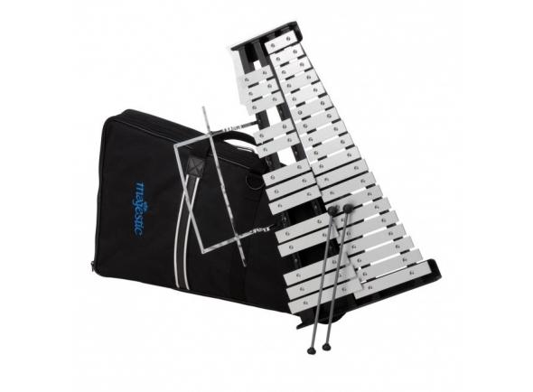 Kit de instrumentos Majestic Kit Glockenspiel com Mochila 32PB