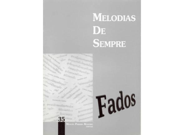 Livro de canções Manuel Pereira Resende Melodias de Sempre Fados Nº35