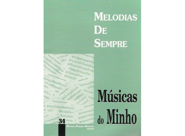 Livro de canções/Livro de canções Manuel Pereira Resende Melodias de Sempre Musicas do Minho 34