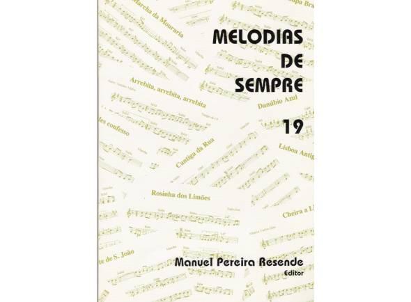 Livro de canções Manuel Pereira Resende Melodias de Sempre Nº19