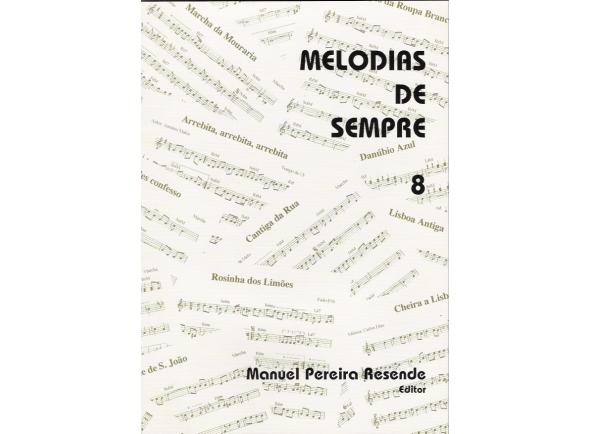 Livro de canções Manuel Pereira Resende Melodias Sempre nº 8