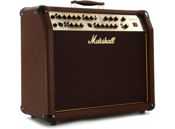 Amplificador Guitarra Acústica Marshall AS100D  Combo Guitarra Acústica Marshall AS100D. Efeitos: Anti-feedback; Efeitos Digitais. Electrónica: 4 Canais; Volume independente de cada canal; Fx loop. Controladores: Switch Phase (3 canais). Potência máxima: 100W. Potência: 50W + 50W. Tweeter: Polydome. Woofer: 2x 8''.