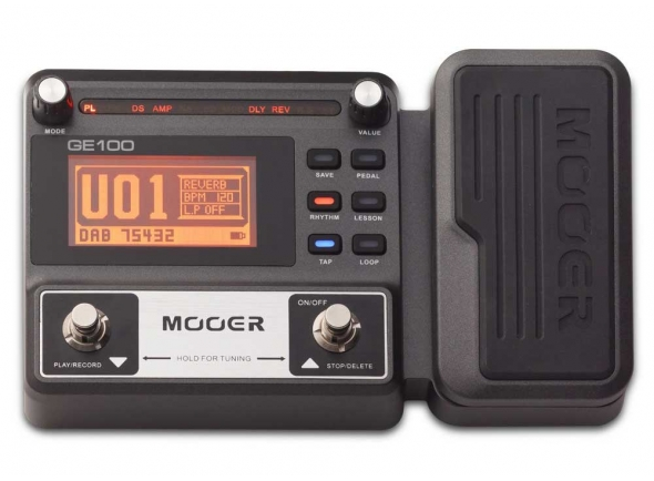 Pedaleiras para guitarra elétrica Mooer GE100 Box Guitar Multi FX