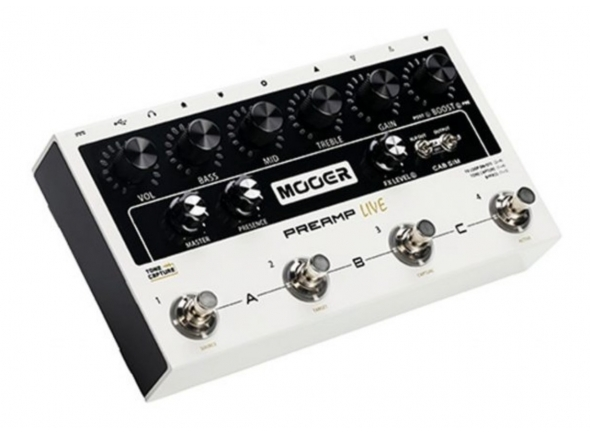 Outros efeitos para guitarra elétrica Mooer Micro Preamp Live