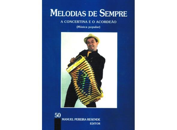 Livro de Melodias para Concertina e Acordeão/Livros de Acordeão MPR Livro Melodias Sempre nº50
