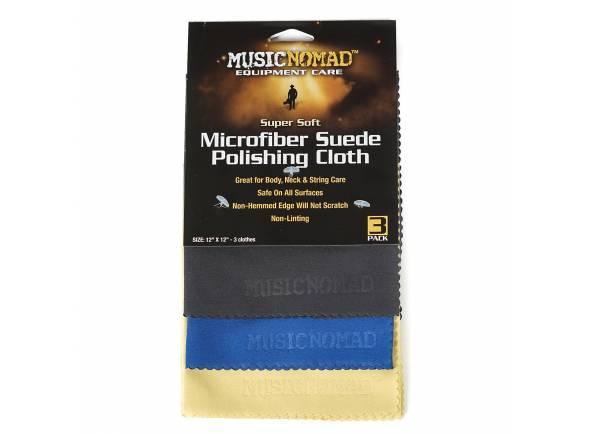 Kit com 3 Produtos para Limpeza/Produtos de limpeza para guitarra Musicnomad Pack 3 Panos Camurça Microfibra