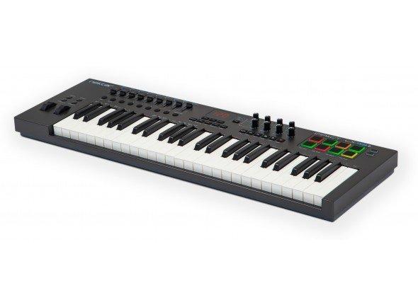Teclados MIDI Controladores Nektar Impact LX49+   49 Teclas sensíveis à velocidade tipo sintetizador  Teclas sensíveis à velocidade semi-pesadas (LX88+)  4 curvas de velocidade + 3 fixas