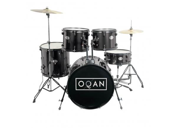 Bateria acústica/Conjunto de bateria completo OQAN  BASIC NEGRA QPA-10