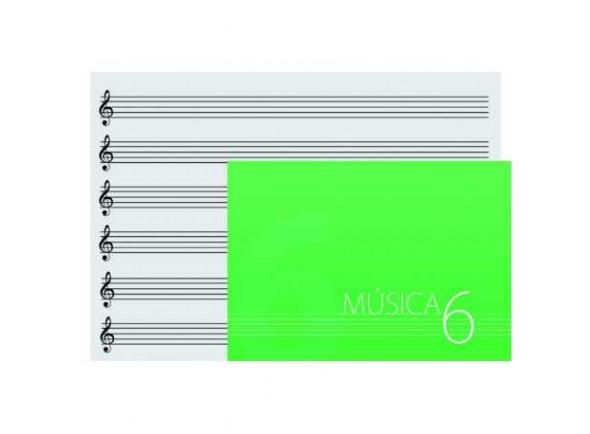 Caderno de musica/Diversos OQAN DINA5 6 Pautas