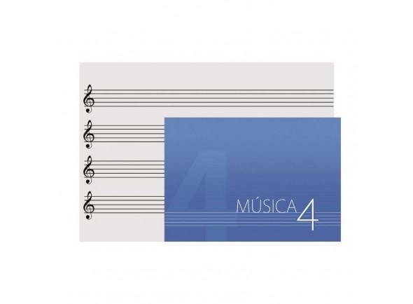Caderno de musica/Cadernos / Folhas Pautadas OQAN DINA5