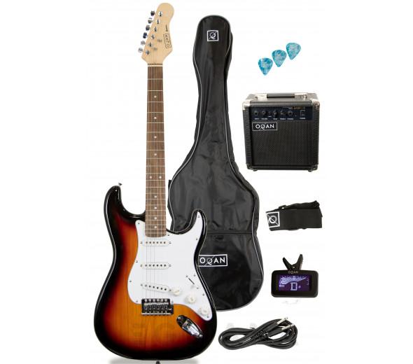 Pack de Guitarra Elétrica/Packs de guitarra  OQAN QGE-ST25 SB PACK ELÉTRICA