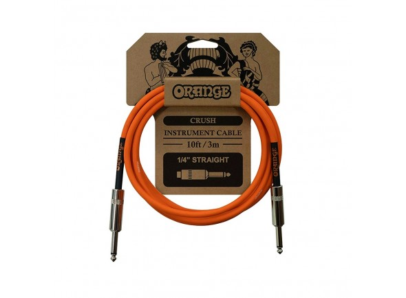 Cabo para Instrumento Orange Cable Crush 10ft Instr Jack 3m
