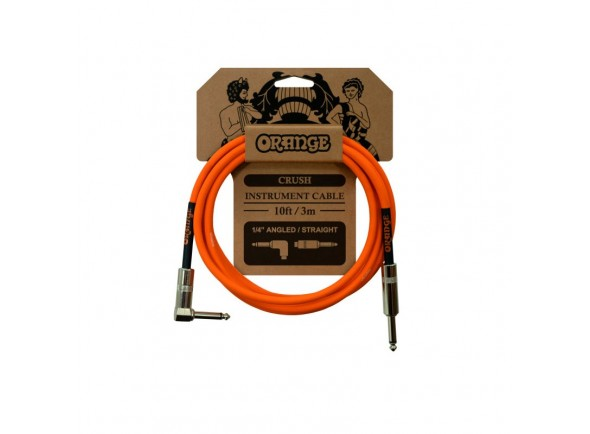 Cabo para Instrumento Orange Crush 10ft Instr Angled-Straight