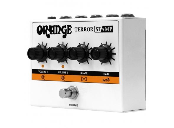 Pedais de volume e expressão Orange Stamp 20w Valve Hybrid Amp Pedal