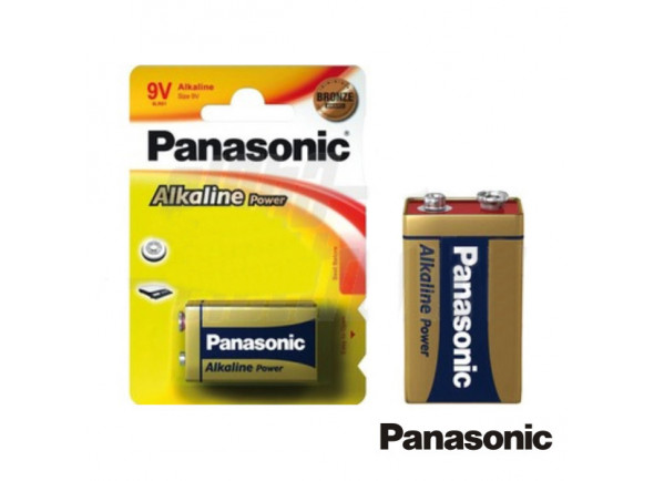 Pilhas Panasonic  Pilha Alcalina 9V/6lr61 Blister