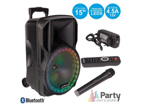 Sistemas Portáteis com Bateria Party Light & Sound PARTY-15RGB B-Stock