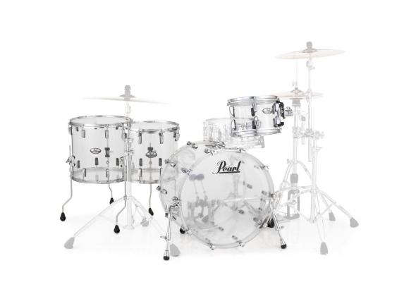 Conjuntos de bateria sem ferragens Pearl Crystal Beat Rock Clear