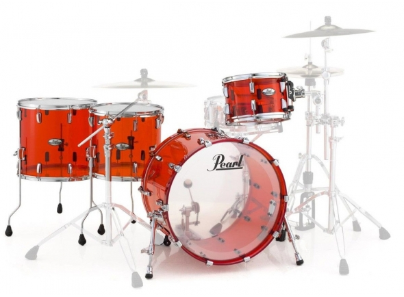 Conjuntos de bateria sem ferragens Pearl Crystal Beat Rock Ruby Red