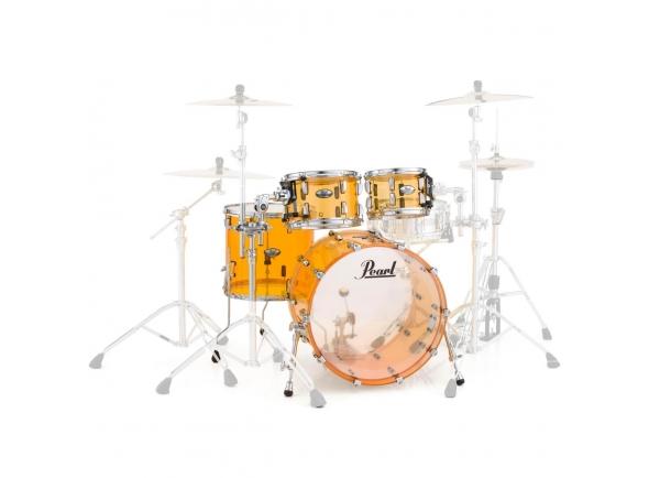 Crystal Beat Stand.Tangerine/Conjuntos de bateria sem ferragens Pearl Crystal Beat Stand.Tangerine