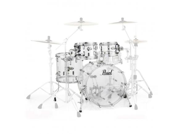 Conjuntos de bateria sem ferragens Pearl Crystal Beat Studio Clear