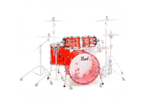 Conjuntos de bateria sem ferragens Pearl Crystal Beat Studio Ruby Red